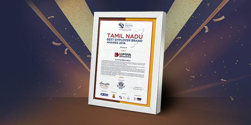 Tamil Nadu Best Employer Brand Award