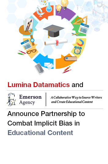 Lumina Datamatics and Emerson Agency Announce Partnership to Combat Implicit Bias in Educational Content